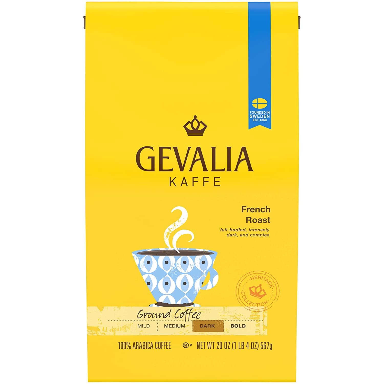Gevalia Dark French Roast Ground Coffee Bag, 20 Ounce