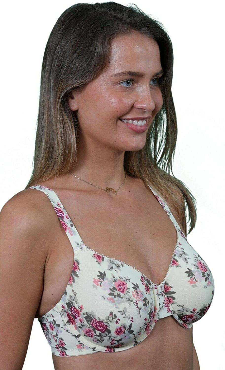 Orchid Minimiser Bra for Women Plus Size Underwired Large Bust Full Cup 40E
