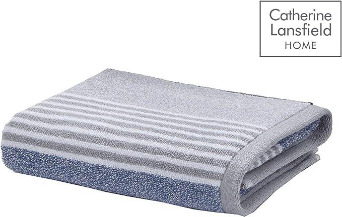 Catherine Lansfield Linear Diamond Handtuch Grau