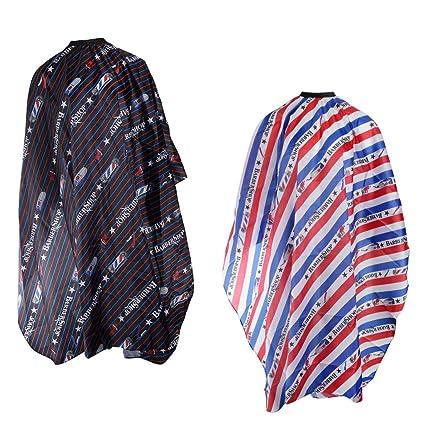 B Baosity 2 Pedazos Capa de Peluquería Batas de Corte de Pelo Vestido de Salón Delantal