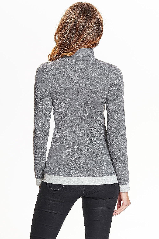 Langarm 34-48 Gr Emilia Stillshirt//Umstandsshirt Made in EU S-XL