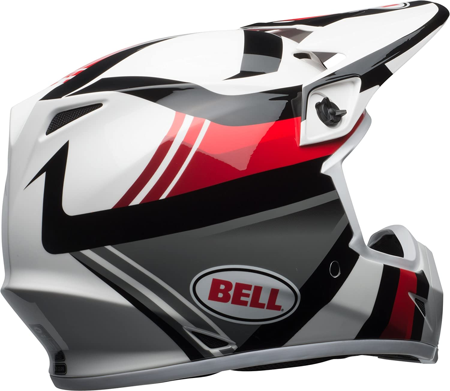 Amazon.com: Bell MX-9 MIPS Off-Road Motorcycle Helmet (Gloss White/Black/Red Marauder, XX-Large): Automotive