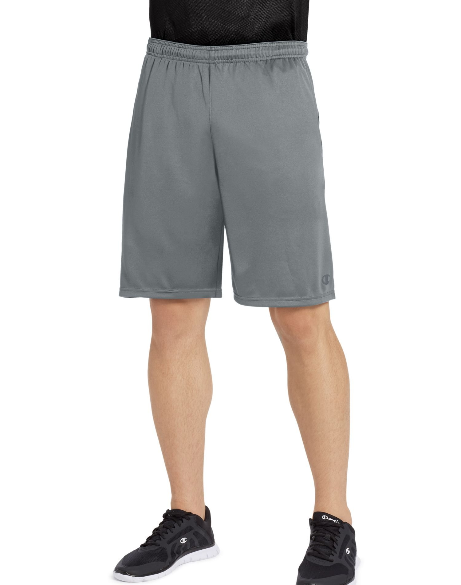 Champion Men's Double Dry Select Short, Concrete/Black, XXL