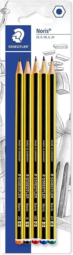 Staedler Noris - Lápiz (5 unidades, dureza variada): Amazon.es: Oficina y papelería