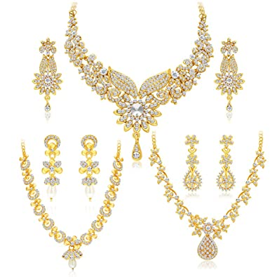 a7bdea5c7c1 Buy Sukkhi Jewellery Sets for Women (Golden) (413CB1900) Online at Low  Prices in India