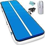 Furgle Inflatable Air Gymnastics Mat 10ft/13ft/16ft/20ft Tumble Track Inflatable Gymnastic Mat,