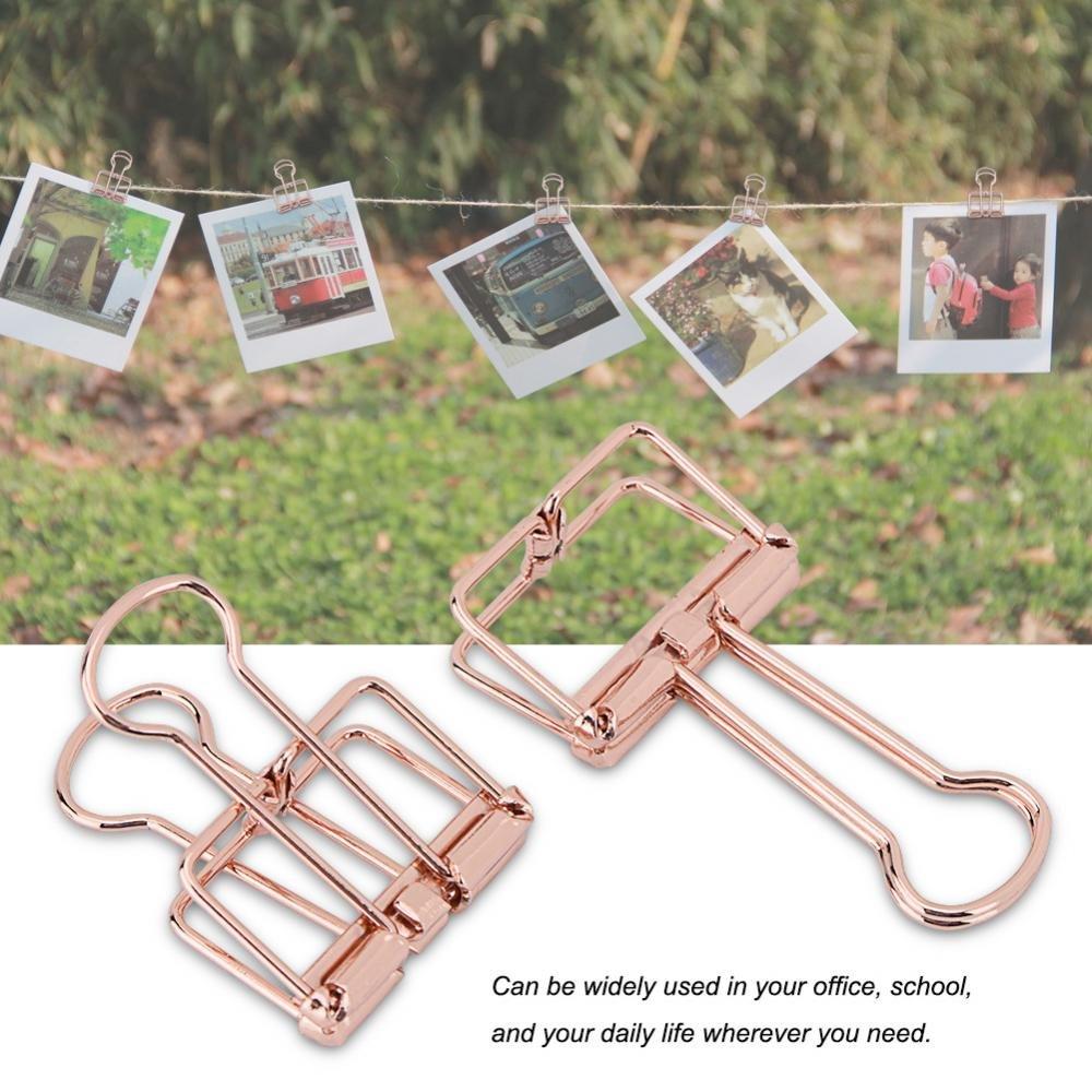 Clip di Oro Rosa Scheletro Stationery-cartellina 8PCS Metal Paper Binder Clip per Ufficio Garsent Filo di Metallo Binder Clip progetti creativi Scuola ECC.
