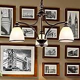 1509 型号 美式乡村铁艺吊灯客厅灯现代简欧卧室餐厅灯北欧复古欧式灯饰灯具 三头5W高端LED暖光