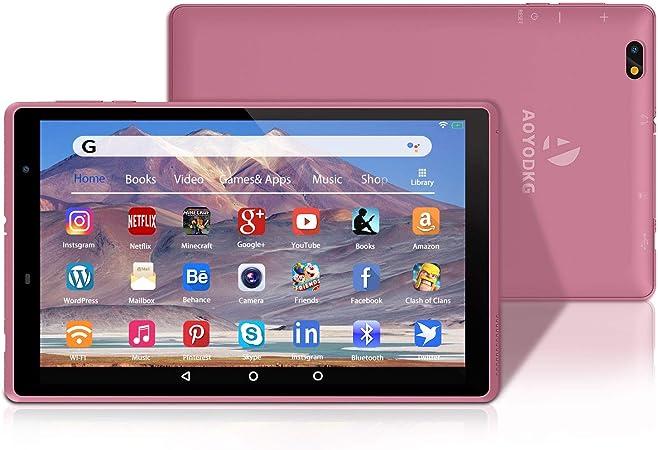 Tablet 8 Pulgadas Android 10.0 Tablets con 3GB RAM + 32GB ROM/128GB - WiFi | Bluetooth | 5000mAH,800 * 1280 IPS-Rosado