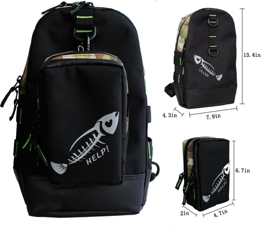 Ilure Fishing Bag Waist Pack Fly Fishing Vest Multifunctional Sling Bag