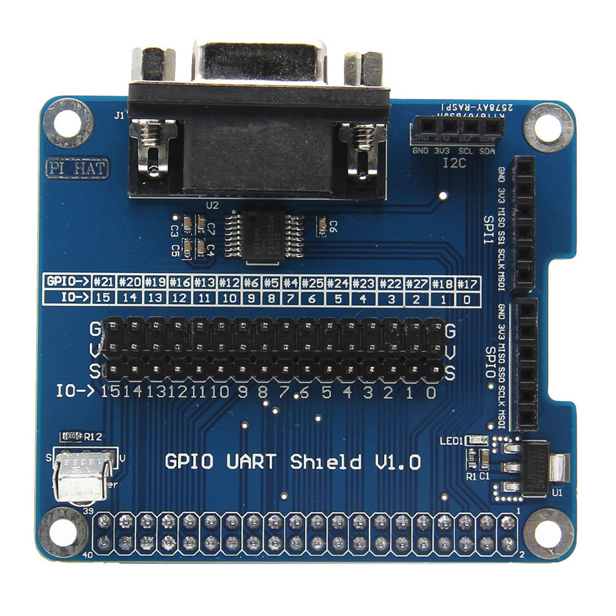 WINOGNEER Serial Port Expansion Board RS232 for Raspberry Pi