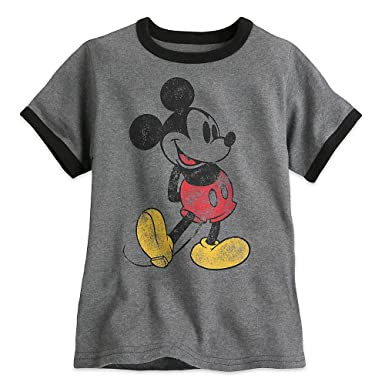4ba49a1d2fd5 Amazon.com: Disney Classic Mickey Mouse Ringer Tee for Boys Size XXS ...