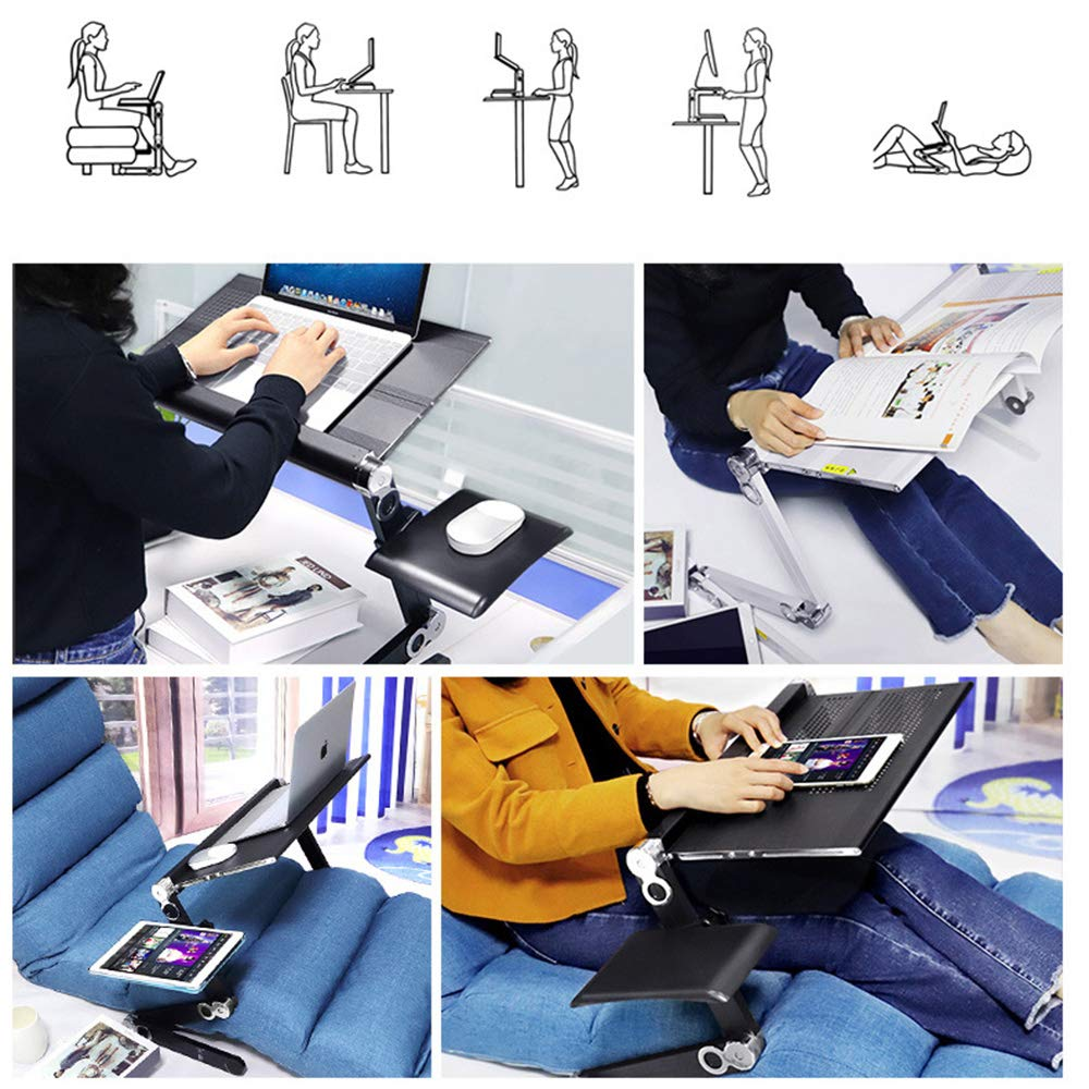 LOVEPET Can Lie Flat On Laptop Table Lying Down Bed fold Lifting Lazy Table Aluminum Alloy Computer Table by LOVEPET (Image #2)