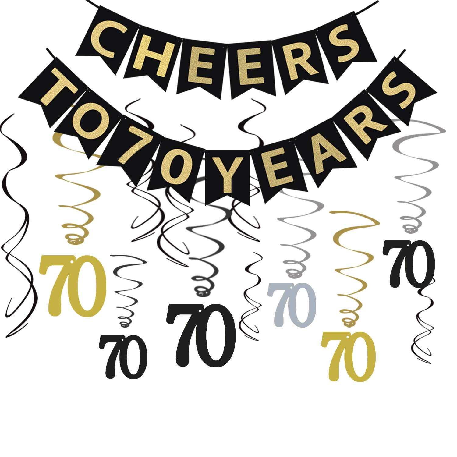 Tuoyi 70th Birthday Party Decorations KIT