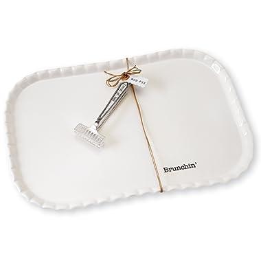 Mud Pie Brunch Platter Serving Set, White
