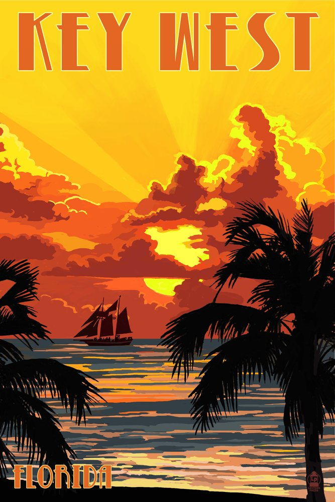 豪華 キーWest x , Florida – Sunset Ship And Ship 12 – x 18 Metal Sign LANT-44527-12x18M B017E9RE3K 36 x 54 Giclee Print 36 x 54 Giclee Print, 白水村:c67b067a --- arianechie.dominiotemporario.com