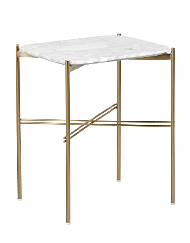 Elle Decor Ophelia Side Table, Gold Marble