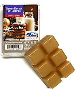 Better Homes & Gardens Scented Wax Cubes, 2.5 oz (Cookies for Santa, 2.5 Oz)
