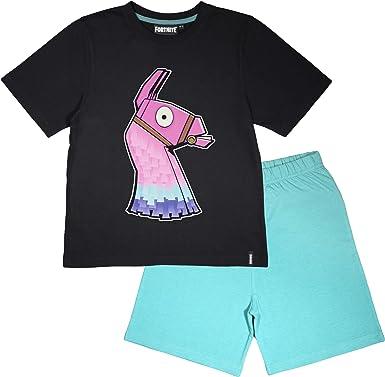Fortnite Brillan en la oscuridad Niños corto pijamas Set | mercancía oficial | Regalos PS4 PS5 del jugador de Xbox, los chicos del Colegio pijamas, ...