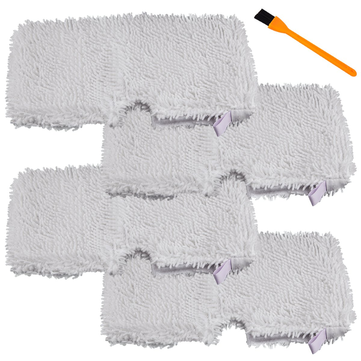 Honfa Shark Steam Mop Pads, 5 Pcs Replacement Pads for Shark Vacuum S3250 S3251 S3101 and A Free Cleaning Brush Hongfa