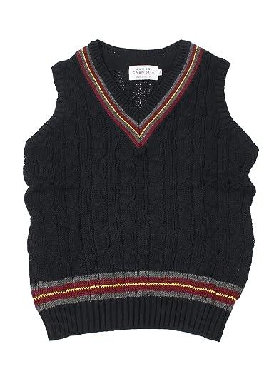 James Charlotte Cotton Cricket Vest 3306-D: Rich Navy