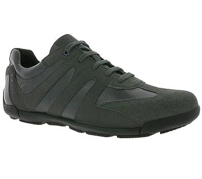GEOX U EDGWARE A Véritable sneaker en cuir pour hommes gris U743BA 022BC C9004 bpVx9p2h