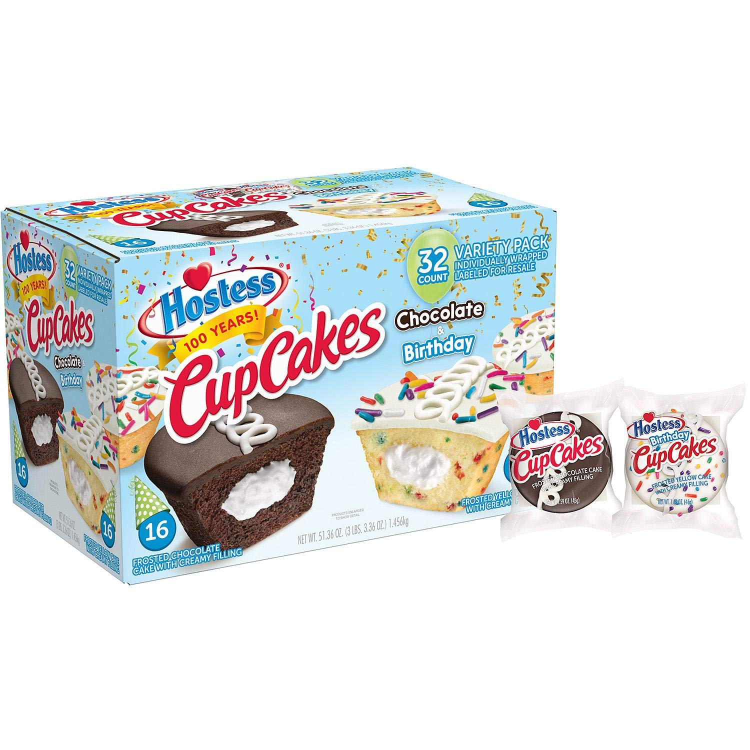 Hostess Original Cupcakes & Birthday Cupcake Variety Pack, 32 count by Hot Deals Warehouse