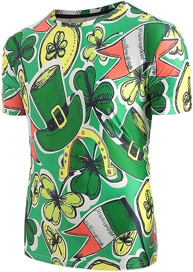 VECDY Moda Diseño Camisa Día De San Patricio Impresión Unisex Cartas Camisetas Camisa Decuello Rendondo Manga Corta Blusa Verde Ropa Tops Verano: Amazon.es: Ropa y accesorios