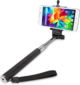 BoxWave SelfiePod Apple iPhone 5s Selfie Stick Photo Assistant - Apple iPhone 5s Monopod Selfie Stick Handheld Extender Arm - Take Perfect Photos Every Time (Jet Black)