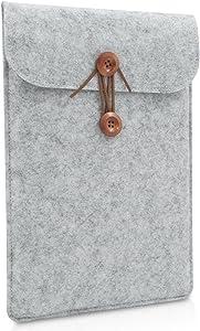 Buruis 12 Inch Laptop Sleeve for MacBook 12 and MacBook Air 11 Inches, Felt Tablet Notebook Bag, Slim Envelope Case (Grey)