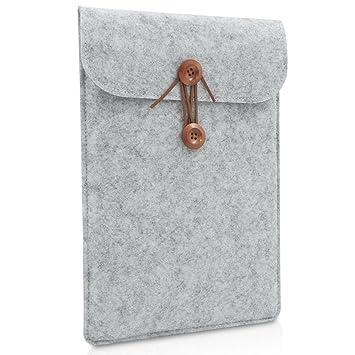 c53f3b25bdd6 BURUIS 12 Inch Felt Laptop Sleeve ,Slim Envelope Case, Carrying Protector  Bag for Apple New Macbook 12-Inch ,Grey