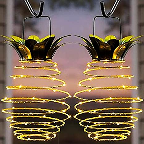 Charmant Garden Solar Lights, Outdoor Decor Pineapple Solar Path Lights Hanging  Fairy Lights, 2