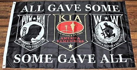 Amazon.com: Thaisan7, All Gave Some MIA KIA WIA POW bandera ...