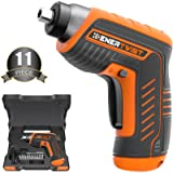 ENERTWIST Cordless Electric Screwdriver, 4V Max Rechargeable Power Screwdriver Set with 11 Accessory Kit and USB…