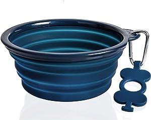 Bonza Large Collapsible Dog Bowl, Hiking Dog Bowl for Large Dogs, Lightweight, Sturdy, Leak Proof, Food Safe, Premium Quality Travel Pet Bowl Solution