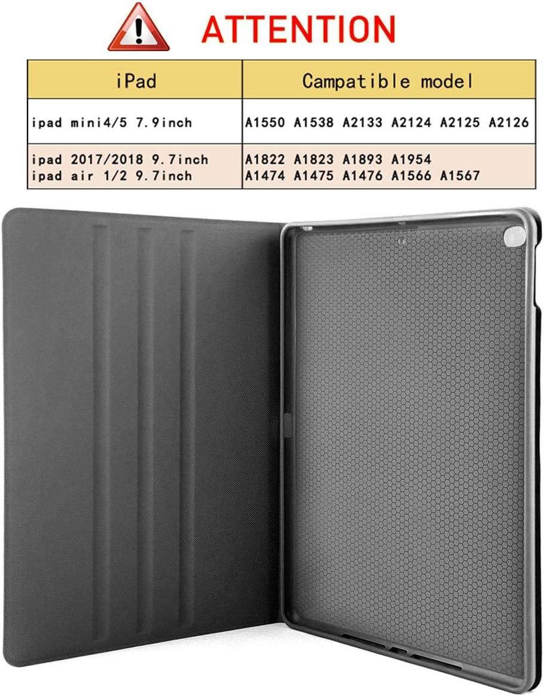 Snoopy funci/ón de encendido y apagado autom/ático para Apple iPad 9.7 pulgadas 6.6 // 5/º piel sint/ética con funci/ón atril Funda para iPad 9.7 2018 2017 // iPad Air 1//2