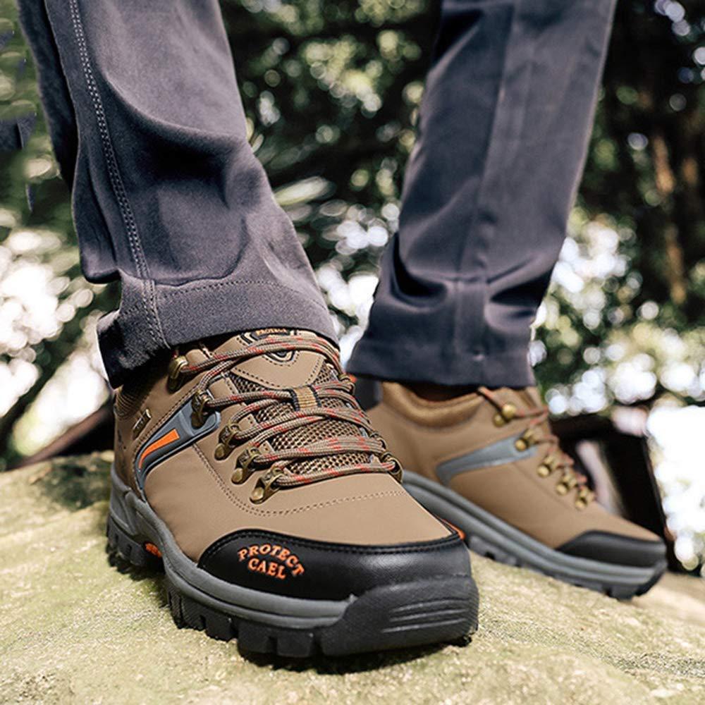 Fuxitoggo Männer Wanderschuhe Wanderschuhe Wanderschuhe Stiefel Leder Wanderschuhe Turnschuhe Für Outdoor Trekking Training Beiläufige Arbeit (Farbe   24, Größe   40EU) b91ffa