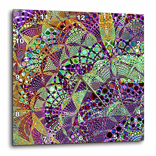 3dRose Fractal Abstracts - Image of Fractal Interwoven Mosaic