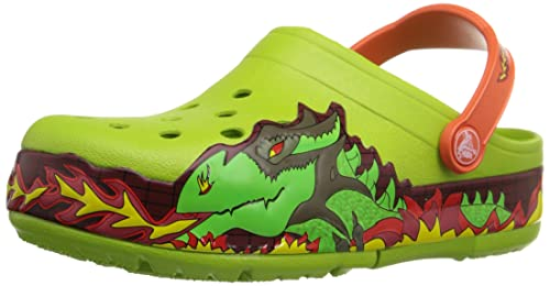 3286c54320cd29 crocs CrocsLights Fire Dragon Clog K Boys Slip on  Buy Online at Low Prices  in India - Amazon.in