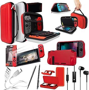 Orzly Pack de Accesorios Nintendo Switch (Funda de Viaje ...