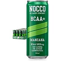 NOCCO BCAA+ Manzana 24 latas x 330ml Bebida energética funcional sin azúcar No Carbs Company Enriquecida con vitaminas…