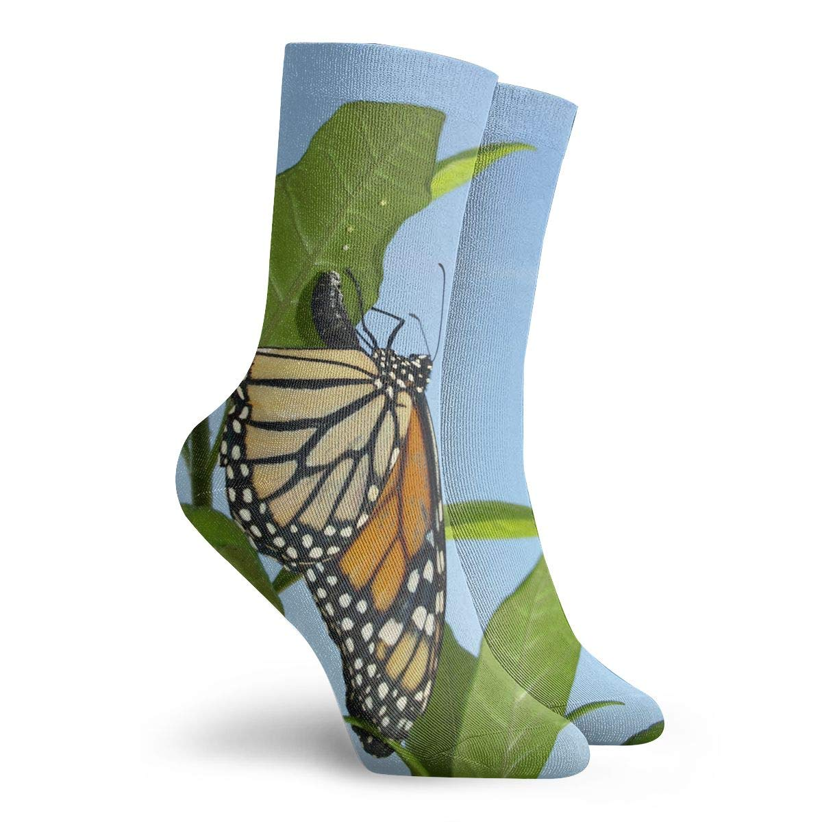 Beautiful Butterfly Sky Fashion Dress Socks Short Socks Leisure Travel 11.8 Inch
