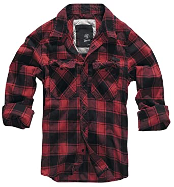 7dd2d5c5e1c4ef Brandit Checkshirt Longsleeve Blue-red-White  Amazon.co.uk  Clothing