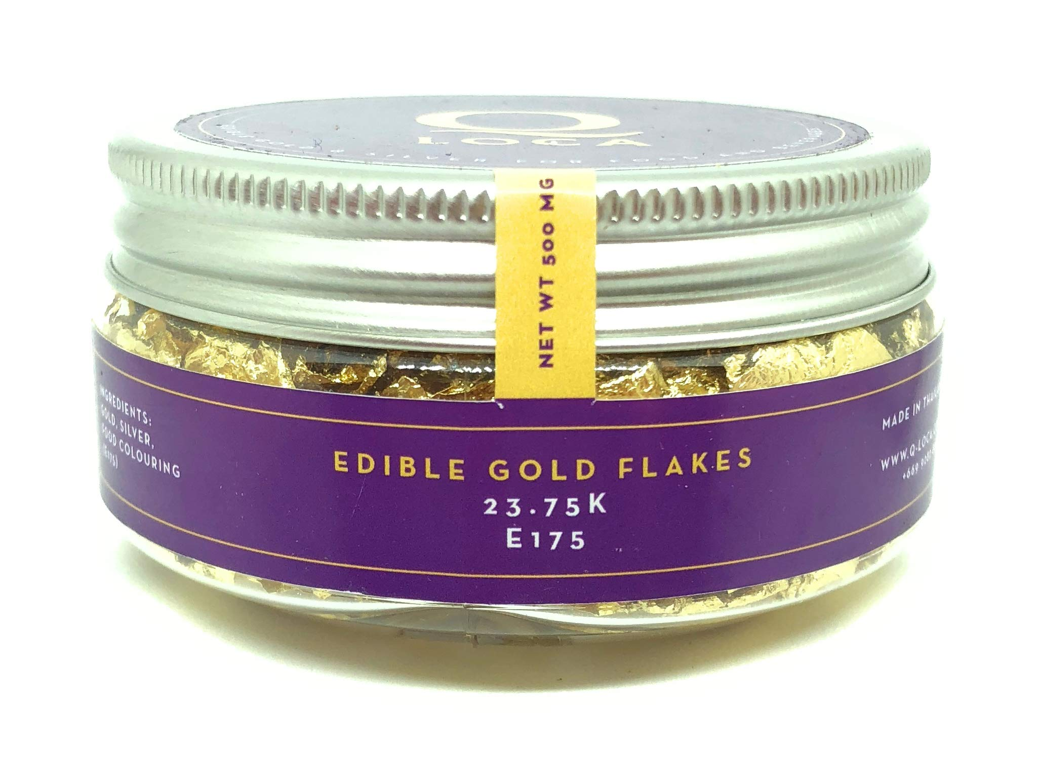 Q-loca 23.75K Edible Gold Leaf Flakes, Decorating Cake (500 mg) by Q-loca (Image #4)