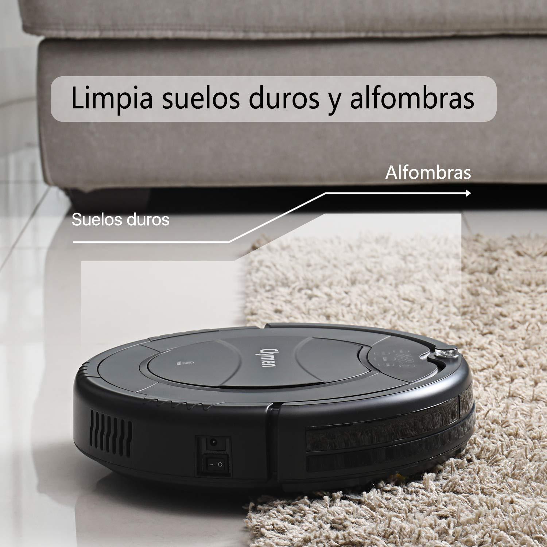 Clymen Q7 Aspiradora Robot, Una Aspiradora Robótica Autocargable para Mascotas, Adecuada Aara Alfombras, Baldosas Y Pisos De Madera, Elimina El Pelo, ...