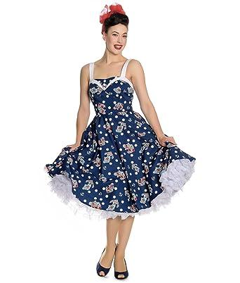 Kleidung & Accessoires Damenmode Neue Mode Hell Bunny Rockabilly Kleid Neckholderpolka Dots Gr.xl