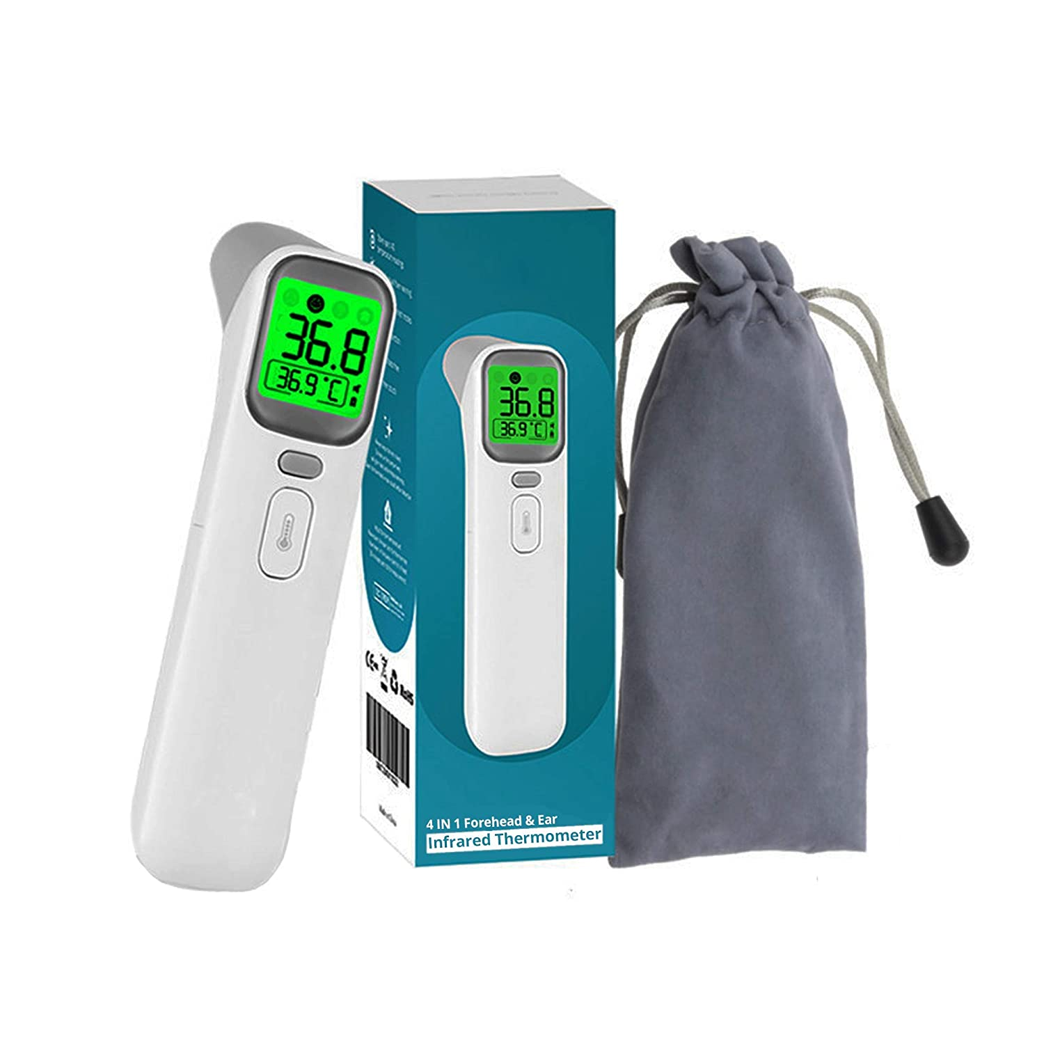 Fever Alarm and Memory Function,FDA Cleared Forehead Thermometer for Fever Non-Contact Temporal Thermometer with Instant Accurate Reading Digital Infrared Thermometer for Baby and Adults