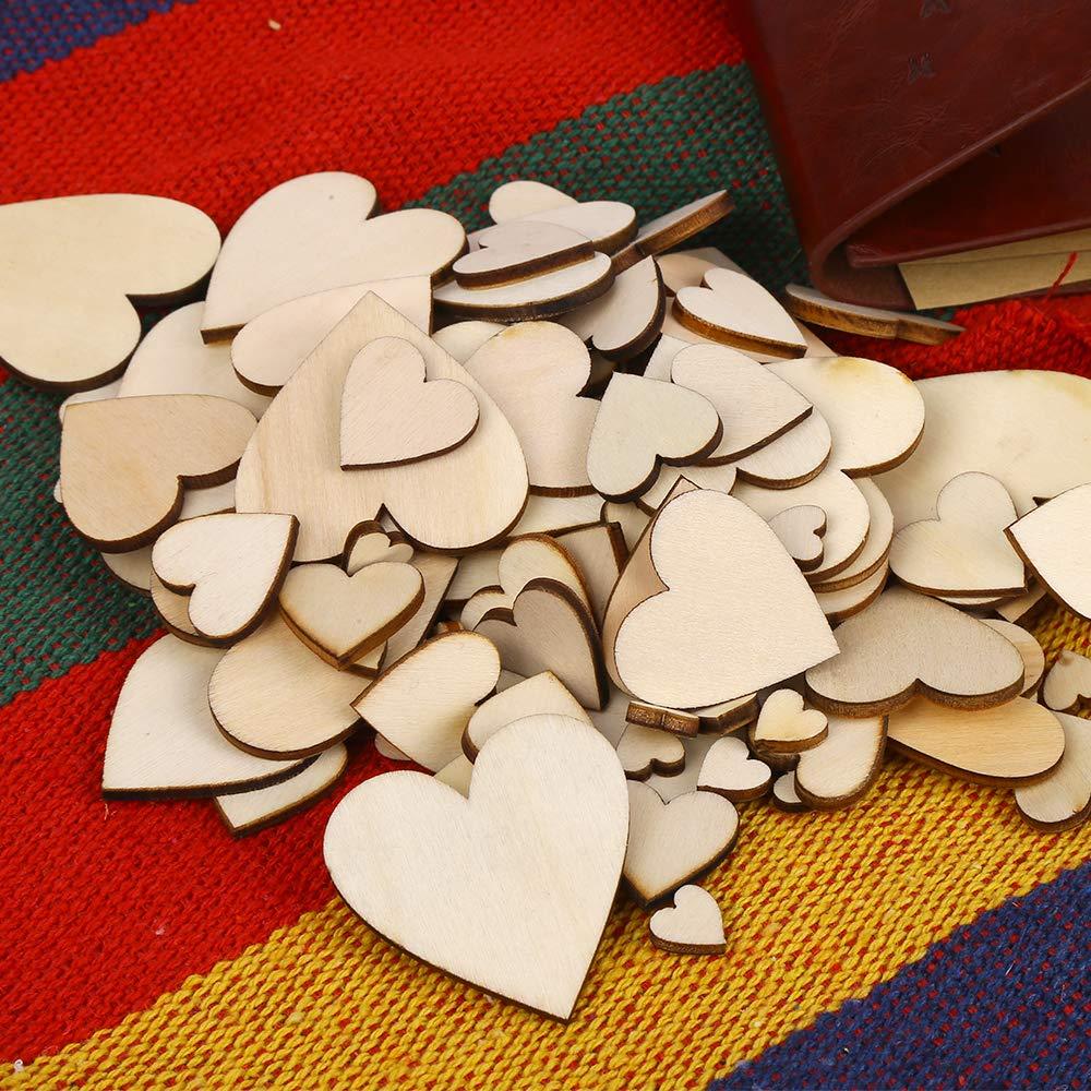 Nomisty 300 St/ück Holzherzen Scheiben Naturholzscheiben unlackiert f/ür f/ür DIY Basteln Weihnachten Hochzeit Geburtstag Feiertag Dekoration Vier Gr/ö/ße:1cm 2cm 3cm 4cm