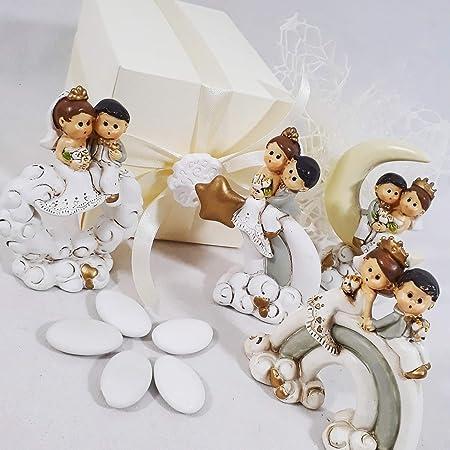 Bomboniere Confezionate Matrimonio.Aprifesta Bomboniera Originale Per Matrimonio Statuette Sposini
