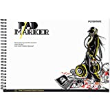 """Finecolour Art Bleedproof Marker Paper Pad, 9"""" x 12"""", 32 Sheets, Hardcover"""